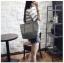 [ พร้อมส่ง ] - กระเป๋าแฟชั่น สีเทาเข้ม ทรง Shopping Bag ใบใหญ่ ดีไซน์สวยเรียบเก๋ งานหนังอย่างดีคุ้มค่าเกินราคา thumbnail 8