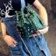 [ พร้อมส่ง ]***จำนวนจำกัด - กระเป๋าแฟชั่น/สะพาย สีเขียว ทรงขนมจีบ ใบเล็กกระทัดรัด ปักหมุดเก๋ๆ ดีไซน์สวยเก๋ๆ ดูดี โดดเด่นไม่ซ้ำใคร thumbnail 2