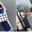 [ พร้อมส่ง ] - กระเป๋าแฟชั่นนำเข้า สไตล์เกาหลี ลายตารางขาวดำ เก๋ๆ ดีไซน์สวยๆ ทรง Shopping งานหนังมันเงา สาวๆห้ามพลาด thumbnail 7