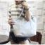 [ พร้อมส่ง ] - กระเป๋าแฟชั่น สีฟ้าเทาอ่อน ทรง Shopping Bag ใบใหญ่ ดีไซน์สวยเรียบเก๋ งานหนังอย่างดีคุ้มค่าเกินราคา thumbnail 1