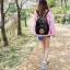 [ พร้อมส่ง HI-End ] - กระเป๋าเป้แฟชั่น สไตล์เกาหลี สีดำคลาสสิค ปักลายสุดเก๋ ดีไซน์สวยเท่ๆ งานผ้าร่มไนลอนอย่างดี น้ำหนักเบา น่าใช้มากๆค่ะ thumbnail 20