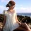เดรสชายหาด สีขาวครีม thumbnail 8