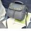 [ ลดราคา ] - กระเป๋าแฟชั่น นำเข้าสไตล์เกาหลี สีเทาเรียบหรู ปักหมุดขอบ ทรง Retro เก๋ๆ ดีไซน์สวยเท่ๆ แบบเก๋มากๆ เหมาะสำหรับสาวๆ ชอบงานดีไซน์ ล้ำๆ thumbnail 12