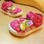 รองเท้าคัชชูผ้าเด็กเล็ก สีชมพู Kitty (เท้ายาว 11-14 ซม.) thumbnail 1