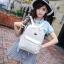 [ Pre-Order ] - กระเป๋าเป้แฟชั่น สไตล์เกาหลี สีขาวสะอาด ให้ลุคคุณหนู ฉลุลายดอกไม้ทั้งใบ ดีไซน์สวยหรู สาวหวานห้ามพลาด thumbnail 2