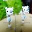 ต่างหูดินปั้น หมีขาว White bear Earrings thumbnail 2