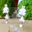 ต่างหูดินปั้น กระต่ายสีขาว Bunny white Earrings thumbnail 2