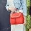 [ ลดราคา ] - กระเป๋าแฟชั่น นำเข้าสไตล์เกาหลี สีแดงโดดเด่น ปักหมุดขอบ ทรง Retro เก๋ๆ ดีไซน์สวยเท่ๆ แบบเก๋มากๆ เหมาะสำหรับสาวๆ ชอบงานดีไซน์ ล้ำๆ thumbnail 17