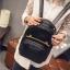 [ Pre-Order ] - กระเป๋าเป้แฟชั่น สไตล์เกาหลี สีดำคลาสสิค หนังอัดลายตารางด้านหน้า ดีไซน์สวยเก๋ไม่ซ้ำใคร งานหนังหนา มันเงาสวยมากค่ะ thumbnail 2