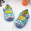 รองเท้าคัชชูผ้าหุ้มส้นเด็กหญิง ลายกุหลาบ สีฟ้า/ชมพู Size 16- 21 thumbnail 3