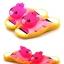 รองเท้าแตะเด็ก มีไฟส้นเท้า หมีสีชมพูบีบหัวมีเสียง Size 24-29 thumbnail 1