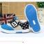 รองเท้าคัชชูผ้าเด็กเท่ห์ๆ B.boy ดาวธงอเมริกา สีฟ้าเทาดำ Size 21-32 thumbnail 5