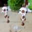 ต่างหูดินปั้น กระต่ายสีขาวแต้มน้ำตาล Bunny browny Earrings thumbnail 3