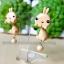 ต่างหูดินปั้น กระต่ายคาราเมล Bunny caramel Earrings thumbnail 2