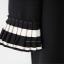 เสื้อแขนยาวสีดำแต่งระบายอัดพลีทปลายแขน thumbnail 5