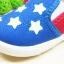 คัชชูผ้าเด็ก ลายดาวธงอเมริกาเท่ๆ ใส่สบาย Size 16-20 thumbnail 4