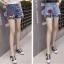 กางเกงยีนส์ขาสั้น ปักดอกกุหลาบ ต่อชายผ้าตาข่าย thumbnail 6