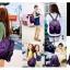 [ ลดราคา ] - กระเป๋าเป้แฟชั่น นำเข้าสไตล์เกาหลี สีน้ำเงินเข้ม ใบกลางสะพายหลัง ดีไซน์สวยเก๋ ผ้าร่มคุณภาพน้ำหนักเบา พกพาสะดวก เท่ๆ thumbnail 18
