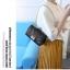[ พร้อมส่ง ] - กระเป๋าแฟชั่น กระเป๋าคลัทช์&สะพาย สีแดง ไซส์ MINI งานหนังคุณภาพ แต่งอะไหล่สีทองอย่างดี มีสายโซ่สะพายไหล่ thumbnail 5