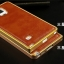 Luxury Leather Metal Aluminum Bumper Frame For Samsung Galaxy NOTE 3 thumbnail 5