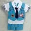 ชุดเด็กชาย วัย 1-4 ปี เสื้อยืดเนคไทสั้น พร้อมกั๊กหน้าเสื้อ หล่อน่ารักสไตล์เกาหลี thumbnail 3