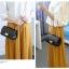 [ พร้อมส่ง ] - กระเป๋าแฟชั่น กระเป๋าคลัทช์&สะพาย สีแดง ไซส์ MINI งานหนังคุณภาพ แต่งอะไหล่สีทองอย่างดี มีสายโซ่สะพายไหล่ thumbnail 6