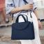 [ ลดราคา ] - กระเป๋าแฟชั่น ถือ&สะพาย สีดำคลาสสิค ใบกลางๆ ดีไซน์สวยเท่เก๋ๆ งานหนังคุณภาพ เหมาะสำหรับสาวๆ Working Woman เท่ๆสุดๆน่าใช้ thumbnail 5