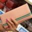 [ พร้อมส่ง ] - กระเป๋าสตางค์แฟชั่น สีชมพู ใบยาว แต่งลายหนังงู ตัดขอบสีชมพู งานสวย น่าใช้มากๆค่ะ thumbnail 1
