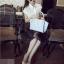 [ ลดราคา ] - กระเป๋าแฟชั่น นำเข้าสไตล์เกาหลี สีฟ้าพาสเทลพิมพ์ลายดอกไม้ สีสันโดดเด่นเก๋ๆ ดีไซน์แบรนด์ดัง ทรงตั้งอยู่ทรงได้ งานหนังคุณภาพ แบบสวยเรียบหรู ดูดีทุกโอกาสการใช้งาน สาวๆห้ามพลาด thumbnail 4