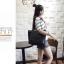 [ พร้อมส่ง ] - กระเป๋าแฟชั่น สีดำคลาสสิค ทรง Shopping Bag ใบใหญ่ ดีไซน์สวยเรียบเก๋ งานหนังอย่างดีคุ้มค่าเกินราคา thumbnail 4
