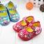 รองเท้าคัชชูผ้าหุ้มส้นเด็กหญิง ลายกุหลาบ สีฟ้า/ชมพู Size 16- 21 thumbnail 2