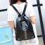 [ ลดราคา ] - กระเป๋าเป้แฟชั่น สไตล์เกาหลี สีดำคลาสสิค ปักหมุด X เก๋ ดีไซน์สวยเท่ๆ เหมาะสำหรับสาวๆ ที่ชอบเป้ใบกลางๆ เท่ๆ โดดเด่นไม่ซ้ำใคร thumbnail 3
