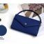 [ Pre-Order ] - กระเป๋าสตางค์แฟชั่น สไตล์เกาหลี สีน้ำเงินเข้ม ใบใหญ่(รุ่นใหม่หนังสวย) แต่งมงกุฎ งานหนังอัดลายสวยน่ารัก น่าใช้มากๆค่ะ thumbnail 2