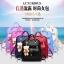 [ Pre-Order ] - กระเป๋าเป้แฟชั่น นำเข้าสไตล์เกาหลี สีแดงเข้ม แต่งหัวเข็มขัดช่องใส่ของด้านหน้า ดีไซน์สวยเก๋ ที่สาวๆ ไม่ควรพลาด thumbnail 2