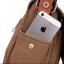 [ พร้อมส่ง ] - กระเป๋าแฟชั่น ผู้ชาย ผู้หญิงใช้ได้ สะพายข้าง สีดำ ใบกลางๆ ช่องใส่ของเยอะ Canvas+Nylon คุณภาพ ตัดเย็บอย่างดี thumbnail 13