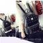 [ ลดราคา ] - กระเป๋าเป้แฟชั่น สไตล์เกาหลี สีแดงเข้ม ปักหมุดเท่ๆ ดีไซน์แบรนด์ดัง ทรงสวยเก๋ไม่ซ้ำใคร งานหนังคุณภาพอย่างดีค่ะ thumbnail 5