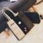 [ ลดราคา ] - กระเป๋าแฟชั่น Set 2 ชิ้น ถือ&สะพาย สีทรีโทนขาวเทาดำ ใบกลางๆ ดีไซน์สวยเก๋ ปรับใช้งานได้หลายสไตล์ thumbnail 2