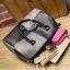 [ Pre-Order ] - กระเป๋าแฟชั่น นำเข้าสไตล์เกาหลี สีทูโทนเทา-ดำ ทรงหมอนใบหลาง ห้อยป้อมๆ สไตล์สาวมั่น ดีไซน์สวยเก๋เท่ๆ thumbnail 22