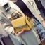 [ Pre-Order ] - กระเป๋าแฟชั่น ถือ/สะพาย สีเหลือง ทรงสี่เหลี่ยม ใบเล็กกระทัดรัด ดีไซน์สวยเรียบหรู ดูดี งานหนังคุณภาพ คุ้มค่าการใข้งาน thumbnail 2