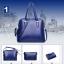 [ ลดราคา พร้อมส่ง Hi-End ] - กระเป๋าแฟชั่น นำเข้าสไตล์เกาหลี Set 4 in 1 สีน้ำเงิน ดีไซน์แบรนด์ดังแบบยุโรป งานหนังคุณภาพ แบบสวยเรียบหรู ดูไฮโซสุดๆน่าใช้ คุ้มค่ามากๆค่ะ thumbnail 2