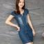 ชุดเดรสสั้น ผ้ายีนส์ แฟชั่นเกาหลี thumbnail 1