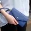 [ Pre-Order ] - กระเป๋าสตางค์แฟชั่น สไตล์เกาหลี สีน้ำเงินเข้ม ใบใหญ่(รุ่นใหม่หนังสวย) แต่งมงกุฎ งานหนังอัดลายสวยน่ารัก น่าใช้มากๆค่ะ thumbnail 3