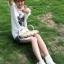 รองเท้าบู๊ทขาว สำหรับวัยใส น่ารักสไตล์เกาหลี Size 34-39 thumbnail 3