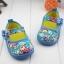 รองเท้าคัชชูผ้าหุ้มส้นเด็กหญิง ลายกุหลาบ สีฟ้า/ชมพู Size 16- 21 thumbnail 4