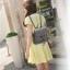 [ Pre-Order ] - กระเป๋าเป้แฟชั่น สไตล์เกาหลี สีดำคลาสสิค ใบกลาง ดีไซน์สวยเก๋เท่ๆ เหมาะสำหรับสาวๆ ที่ชอบเป้เก๋ๆ โดดเด่นไม่ซ้ำใคร thumbnail 5