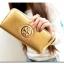 [ พร้อมส่ง ] - กระเป๋าสตางค์แฟชั่น สไตล์เกาหลี สีบรอนซ์ทอง ใบยาว หนัง Saffiano แต่งโลโก้ สไตล์แบรนด์ดัง งานสวยโดดเด่น น่าใช้มากๆค่ะ thumbnail 3