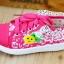 รองเท้าเด็กหญิงสีชมพู แบบผูกเชือก ประดับลูกไม้น่ารัก Size 27-32 thumbnail 3