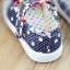 รองเท้าคัชชูเด็กหญิง สีน้ำเงิน โบว์จุด น่ารัก Size 27-32 สำหรับเด็กวัย 3-6 ปี thumbnail 3