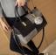 [ Pre-Order ] - กระเป๋าแฟชั่น นำเข้าสไตล์เกาหลี สีทูโทนเทา-ดำ ทรงหมอนใบหลาง ห้อยป้อมๆ สไตล์สาวมั่น ดีไซน์สวยเก๋เท่ๆ thumbnail 11