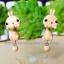ต่างหูดินปั้น กระต่ายคาราเมล Bunny caramel Earrings thumbnail 1